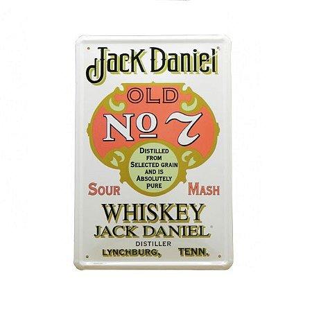 Placa Decorativa Metal Personalizada Jack Daniels