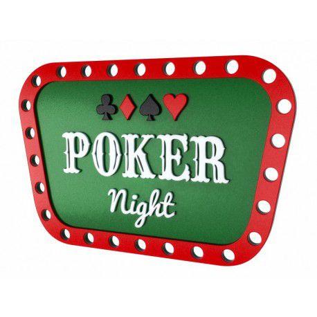 Placa Decorativa Personalizada Poker