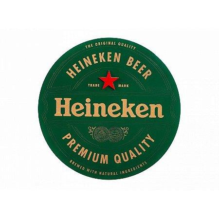 Placa Laqueada Artesanal 3D - Cerveja Heineken