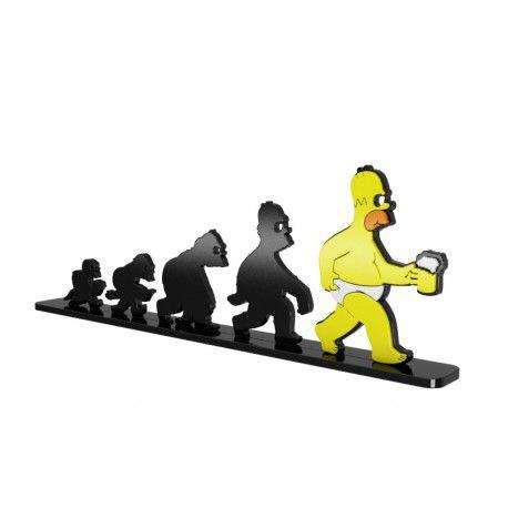 Adorno Criativo Evolução Homer Simpson