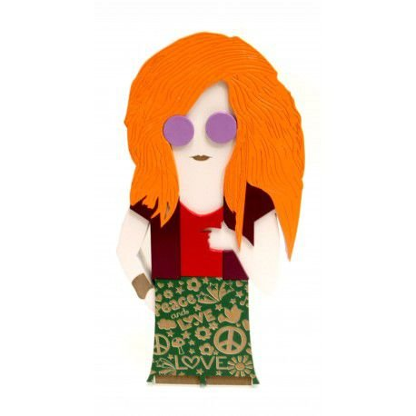 Adorno Decorativo Boneca Janis Joplin