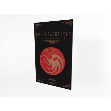 Placa Decorativa Personalizada Game of Thrones Targaryen