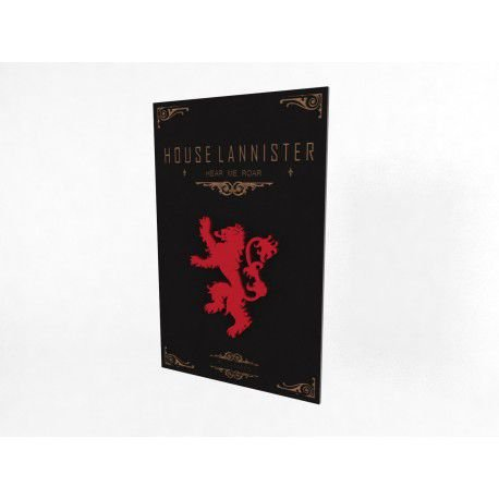 Placa Decorativa Personalizada Game of Thrones Lannister