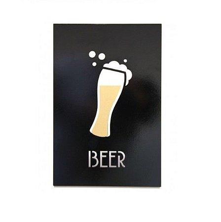 Placa Decorativa Beer Mdf Laqueada
