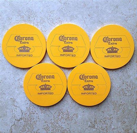 Conjunto 5 Porta Copos com suporte Cerveja Corona