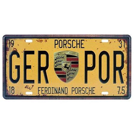 Placa de Metal Porsche GER