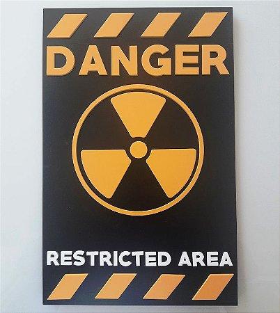 Placa Decorativa Danger