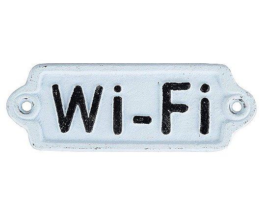 Placa de Ferro Decorativa Wi-fi