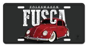 Placa de Alumínio Fusca Original Classic em Relevo