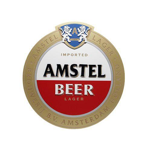Placa Cerveja Amstel Laqueada Mdf 3D