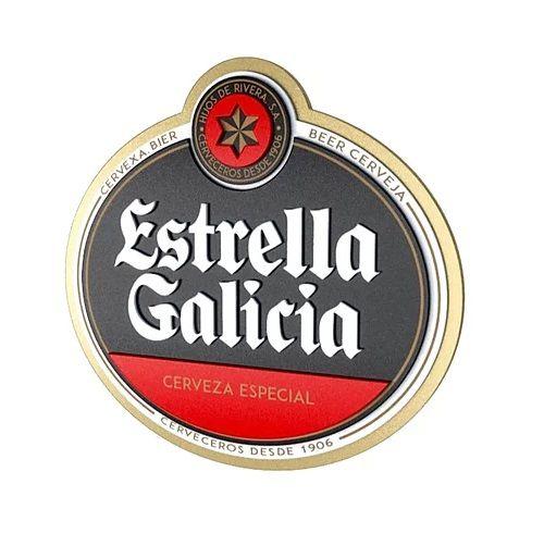 Placa Cerveja Estrella Galícia Mdf Laqueada 3D