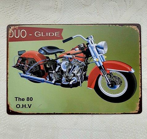 Placa Moto Vintage Metal