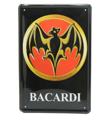 Placa de Metal Bacardi