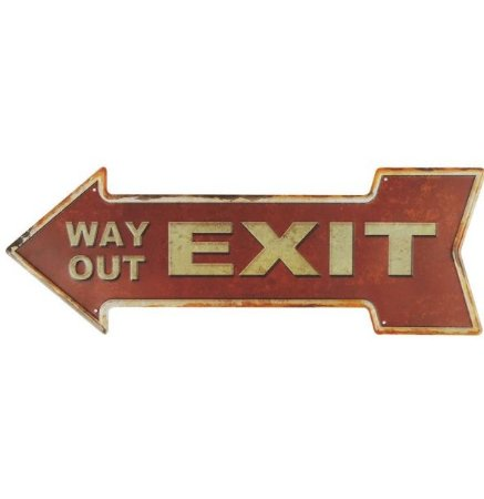 Placa Exit Metal Alto Relevo
