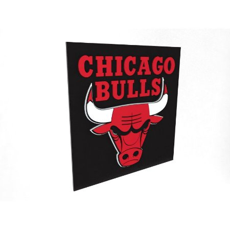 Placa Chicago Bulls NBA Laqueada 3D
