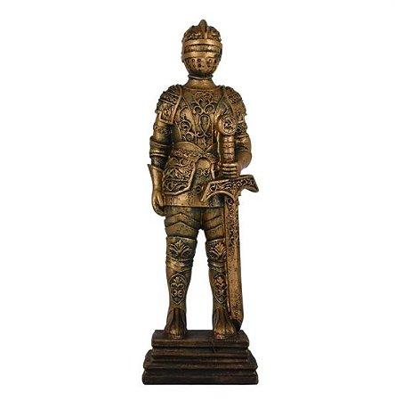 Enfeite soldado Medieval Dourado