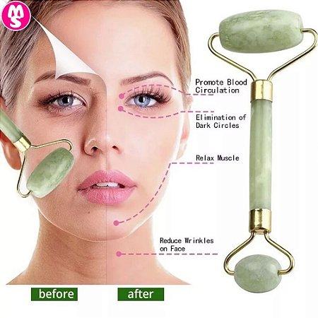 Rolo Massageador Facial Pedra Jade