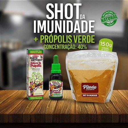 Kit Shot da Imunidade 150g + Extrato de Própolis Verde Concentrado 40% 30ml