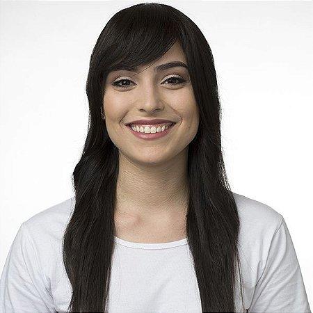 Aplique de cabelo Franja Hairdo Castanho Super Escuro