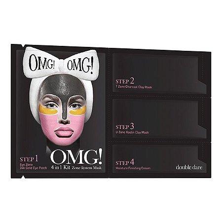 Kit Máscaras Faciais 4 em 1 Zone Mask System OMG Double Dare