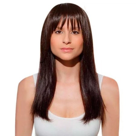 Aplique de cabelo Franja Hairdo Chocolate