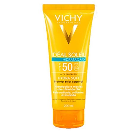 Protetor Solar Vichy Ideal Soleil Hydrasoft Fps50 200ml