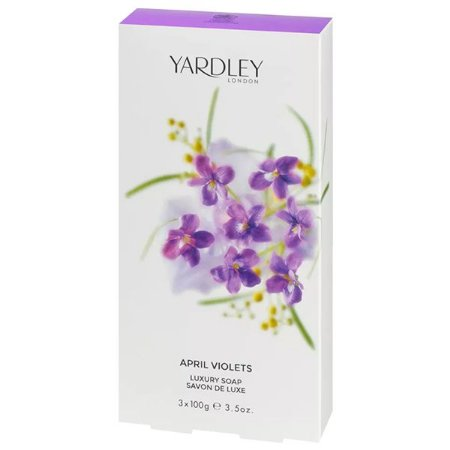 Kit de Sabonetes April Violets Luxury Soap Yardley 3x100g