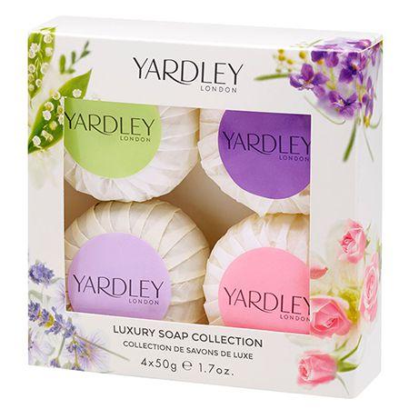 Kit de sabonetes Mixed Soap Collection Yardley 4x50g