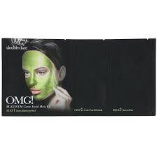Kit Máscara Facial Platinum Verde Detox Double Dare OMG!
