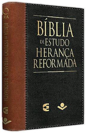 Bíblia de Estudo Herança Reformada - Preto e Marrom