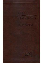 Bíblia Almeida Século 21 letra grande luxo - café