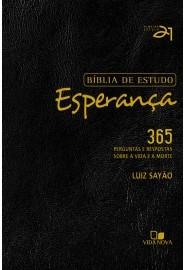 Bíblia de estudo Esperança - Capa Preta / Luiz Sayão - Editor