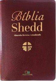 Bíblia Shedd - Couro Bonded Bordô