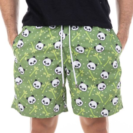 Short Masculino Estampado Panda Bidoo