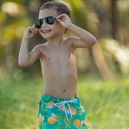 Short Infantil Estampado Abacaxi