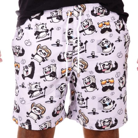 Short Estampado Masculino Panda Funny
