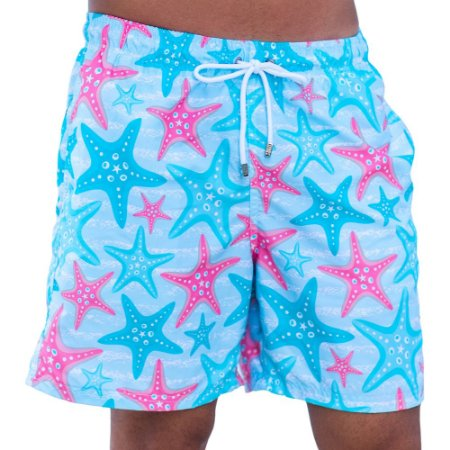 Short Masculino Estampado Estrela do Mar
