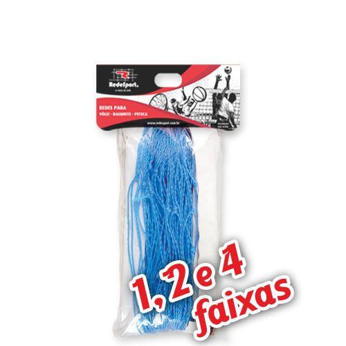 Rede para Quadra Vôlei Lazer Azul - 9,50m (1, 2 e 4 Faixas)