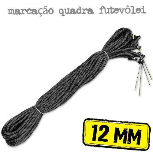 Marcação para Quadra de FUTEVÔLEI em Corda PRETA 12mm - (18x9mts)