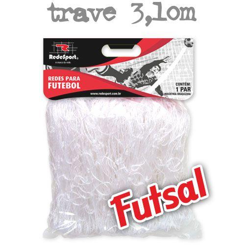 Rede para Gol Trave Oficial Futebol de SALÃO Cristal - FUTSAL (par)