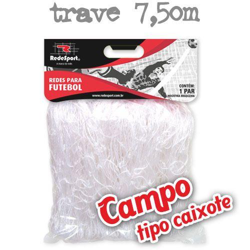 Rede para Gol Trave Oficial Futebol de CAMPO Cristal - Tipo Caixote (par)