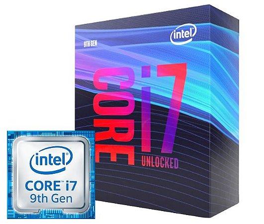 PROCESSADOR INTEL i7-9700KF LGA 1151 9º GERAÇÃO 3.6GHz (4.9GHz MAX TURBO)