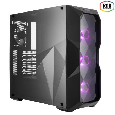 GABINETE GAMER COOLER MASTER MASTERBOX COM RGB TD500 - MCB-D500D-KANN-S00