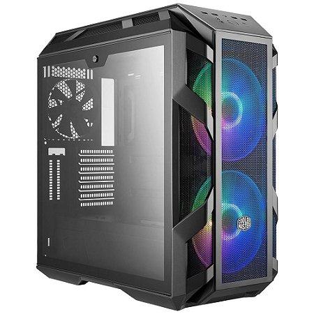 GABINETE GAMER COOLER MASTER MASTERCASE H500M RGB VIDRO TEMPERADO CINZA - MCM-H500M-IHNN-S00