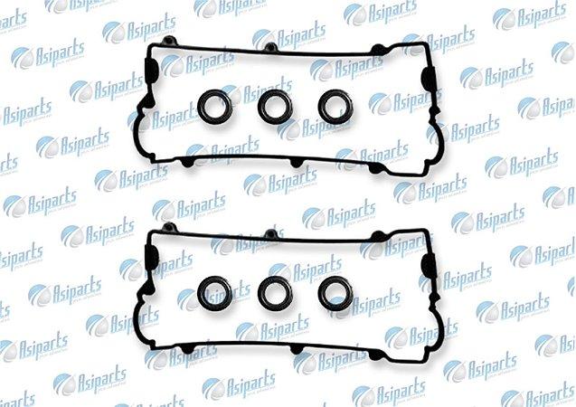Kit de juntas de tampa de válvulas c/vedador de velas Hyundai Tucson/ Sonata /Santa Fé 2.7 V6 24V