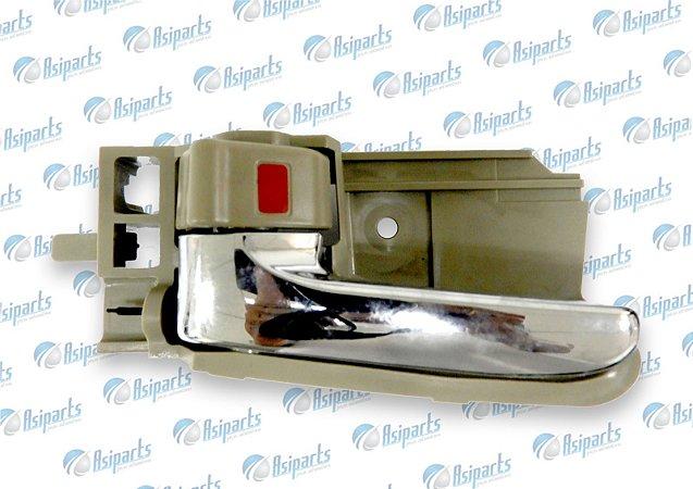 Maçaneta interna da porta dianteira lado esquerdo Lifan 620 (bege-cromada)