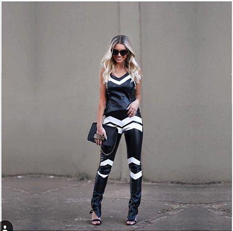 Calça Skinny Couro Ecológico - Paola