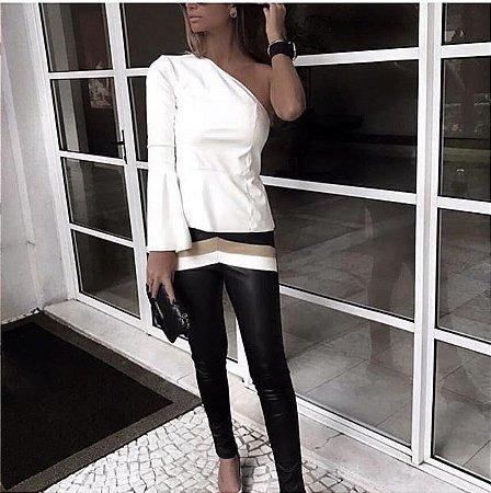 Calça Skinny Couro Ecológico - Samantha