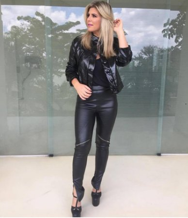 Calça Skinny Couro Ecológico Neoprene - Deborah