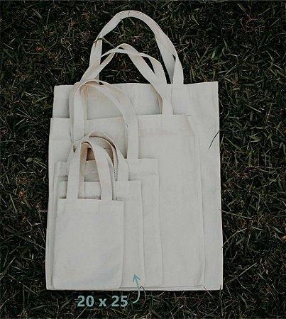 Ecobag 20 cm x 25 cm - Sem Estampa